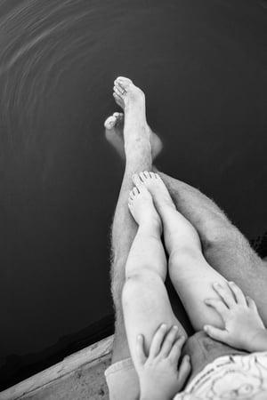 adult and kid feet
