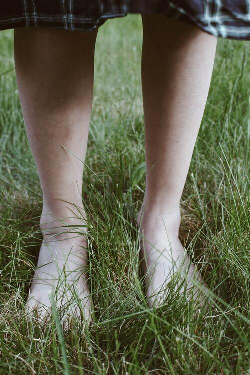 picture of feet standing in grass